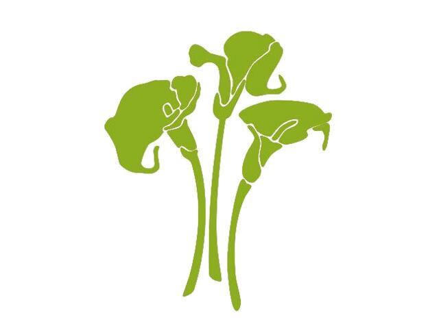 Naklejka dekoracyjna welurowa kwiaty 675007-5 Klimaty Domu