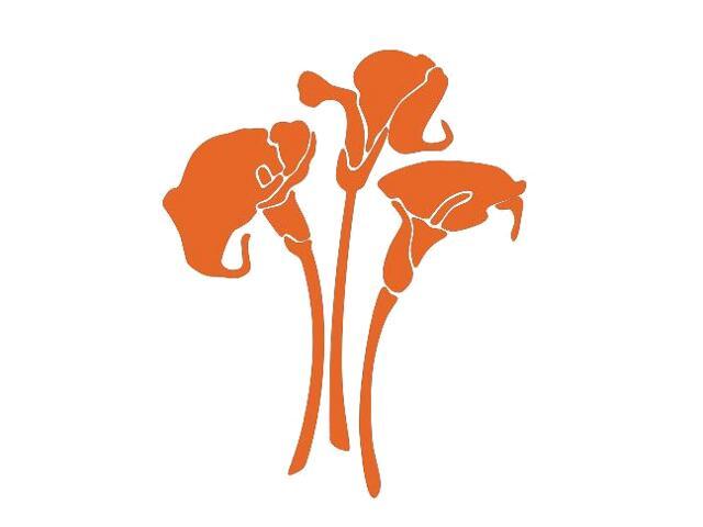 Naklejka dekoracyjna welurowa kwiaty 675007-1 Klimaty Domu