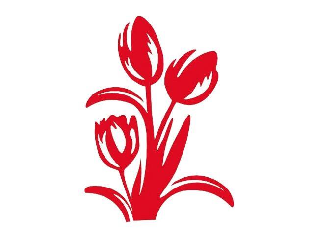 Naklejka dekoracyjna welurowa kwiaty 675008-6 Klimaty Domu