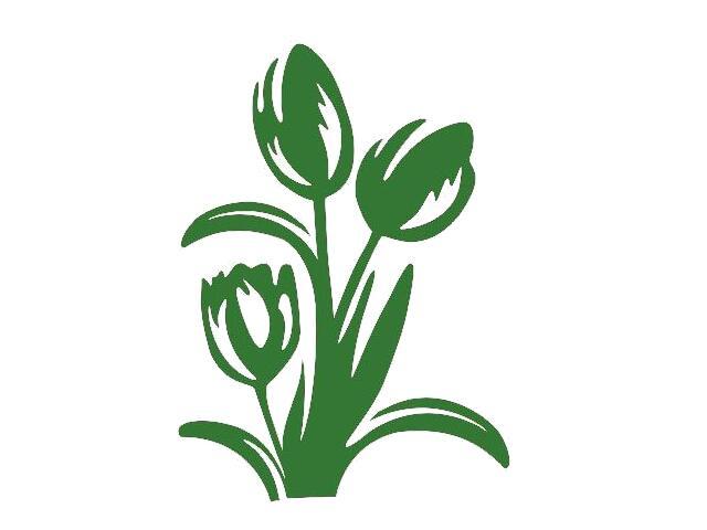 Naklejka dekoracyjna welurowa kwiaty 675008-9 Klimaty Domu