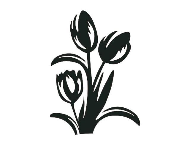 Naklejka dekoracyjna welurowa kwiaty 675008-7 Klimaty Domu