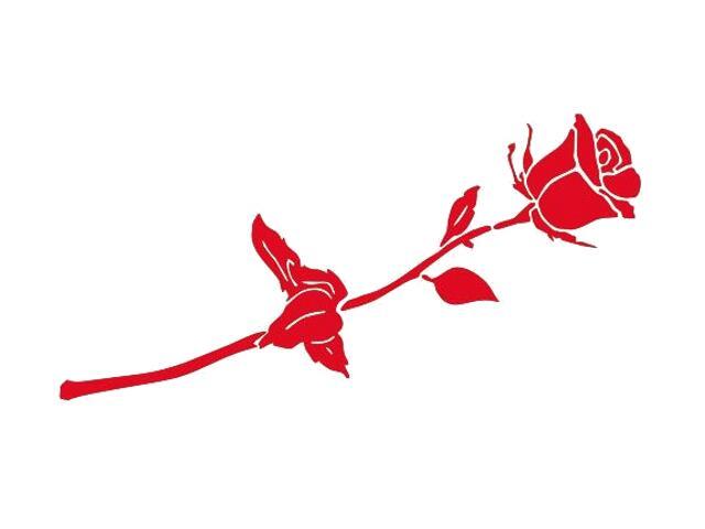 Naklejka dekoracyjna welurowa róża 675009-6 Klimaty Domu
