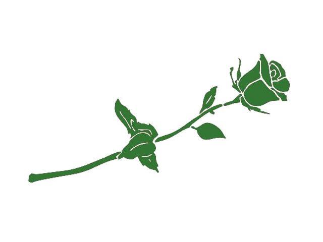 Naklejka dekoracyjna welurowa róża 675009-9 Klimaty Domu