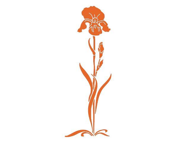 Naklejka dekoracyjna welurowa kwiat 675010-1 Klimaty Domu