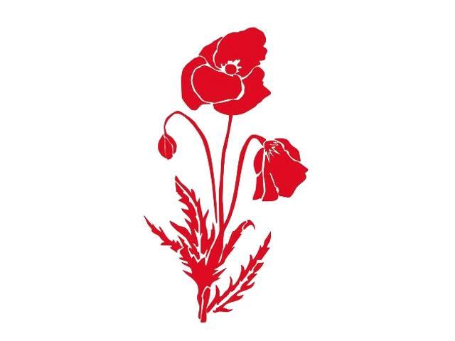 Naklejka dekoracyjna welurowa mak 675011-6 Klimaty Domu