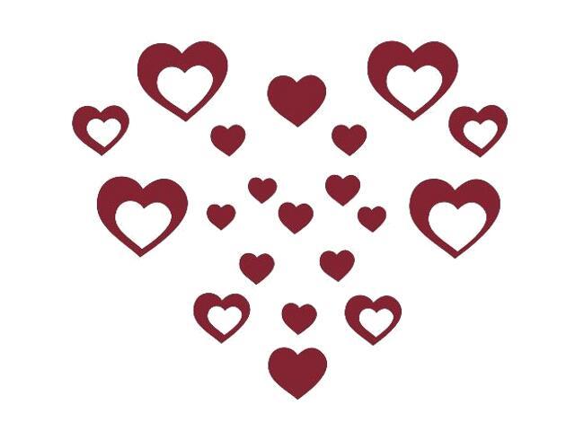 Naklejka dekoracyjna welurowa serca 675012-11 Klimaty Domu