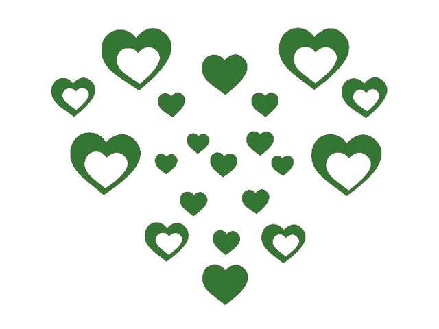 Naklejka dekoracyjna welurowa serca 675012-9 Klimaty Domu
