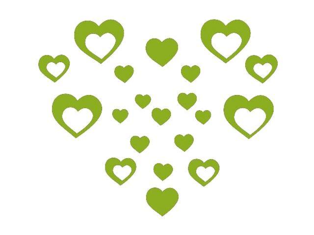Naklejka dekoracyjna welurowa serca 675012-5 Klimaty Domu