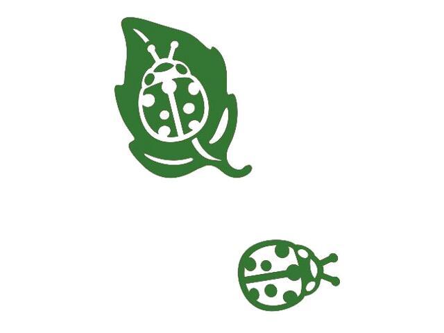Naklejka dekoracyjna welurowa biedronki 675013-9 Klimaty Domu