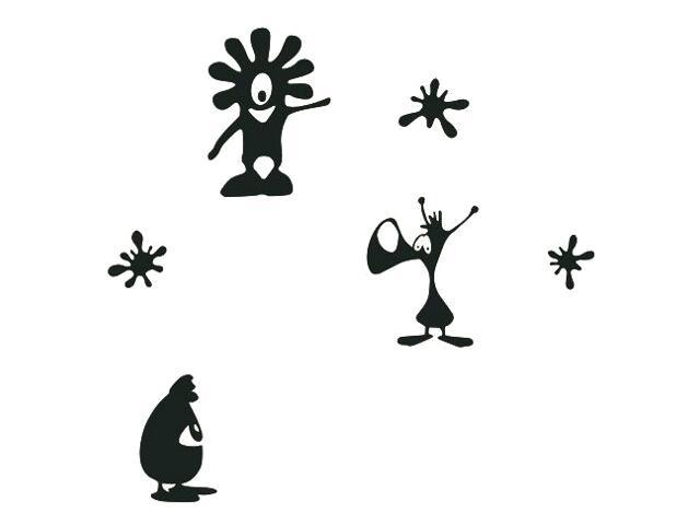 Naklejka dekoracyjna welurowa stworki 675016-7 Klimaty Domu