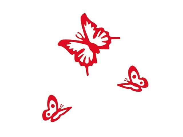 Naklejka dekoracyjna welurowa motyle 675018-6 Klimaty Domu