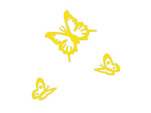 Naklejka dekoracyjna welurowa motyle 675018-3 Klimaty Domu