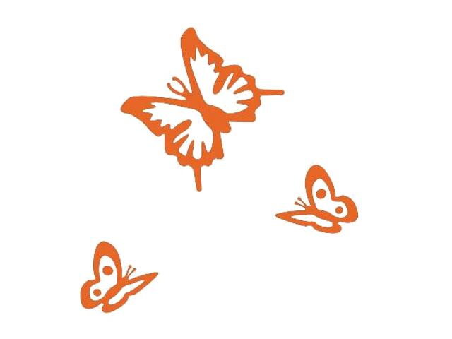 Naklejka dekoracyjna welurowa motyle 675018-1 Klimaty Domu