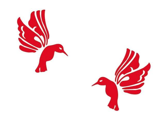 Naklejka dekoracyjna welurowa ptaki 675019-6 Klimaty Domu