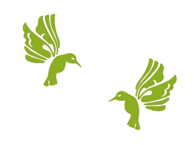Naklejka dekoracyjna welurowa ptaki 675019-5 Klimaty Domu