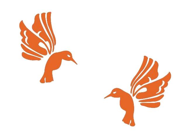 Naklejka dekoracyjna welurowa ptaki 675019-1 Klimaty Domu