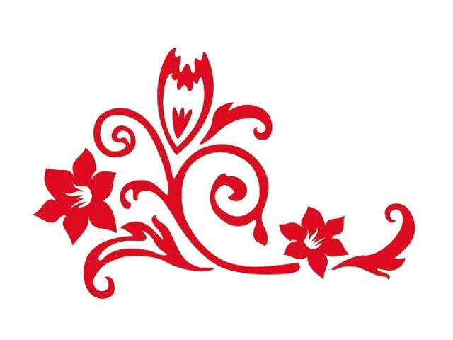 Naklejka dekoracyjna welurowa kwiaty 675020-6 Klimaty Domu