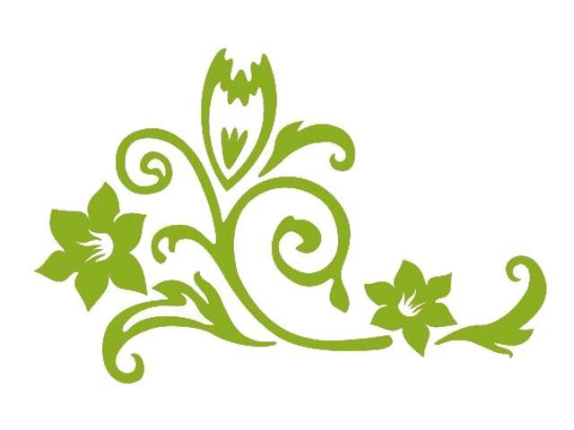 Naklejka dekoracyjna welurowa kwiaty 675020-5 Klimaty Domu