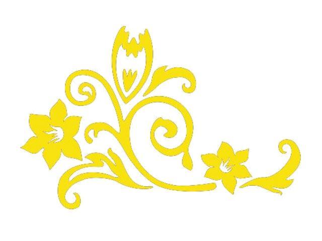 Naklejka dekoracyjna welurowa kwiaty 675020-3 Klimaty Domu