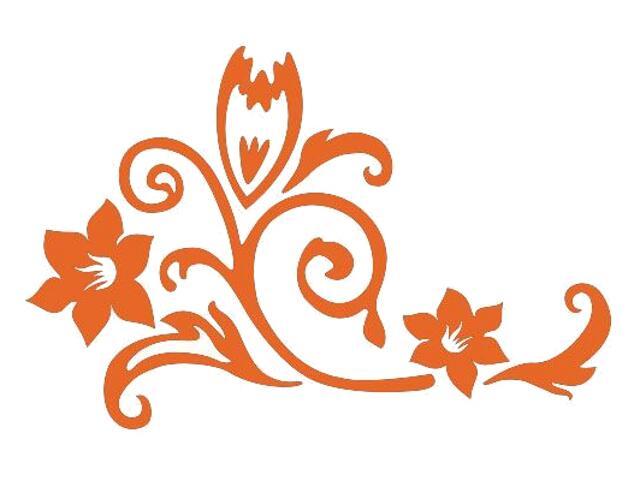 Naklejka dekoracyjna welurowa kwiaty 675020-1 Klimaty Domu