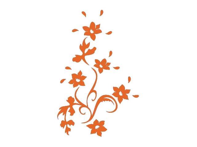 Naklejka dekoracyjna welurowa kwiaty 675021-1 Klimaty Domu