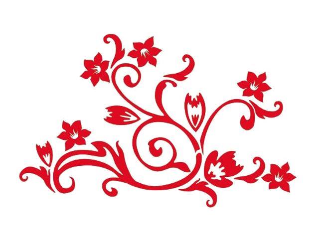 Naklejka dekoracyjna welurowa kwiaty 675022-6 Klimaty Domu