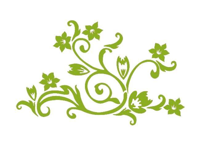 Naklejka dekoracyjna welurowa kwiaty 675022-5 Klimaty Domu