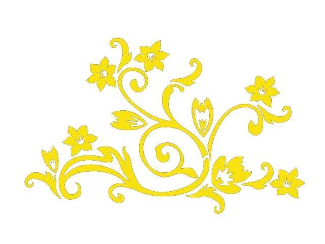 Naklejka dekoracyjna welurowa kwiaty 675022-3 Klimaty Domu
