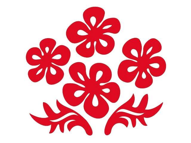 Naklejka dekoracyjna welurowa kwiaty 675024-6 Klimaty Domu