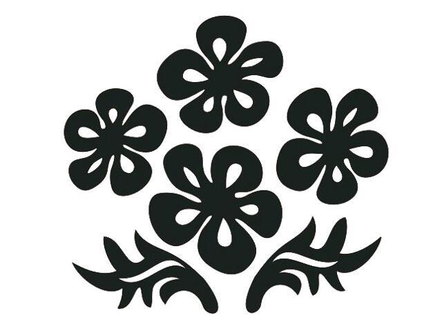Naklejka dekoracyjna welurowa kwiaty 675024-7 Klimaty Domu