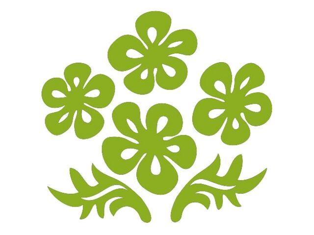 Naklejka dekoracyjna welurowa kwiaty 675024-5 Klimaty Domu