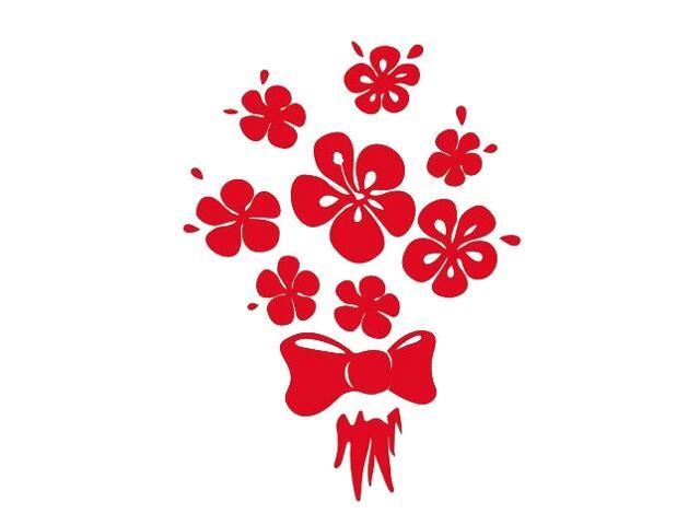 Naklejka dekoracyjna welurowa kwiaty 675026-6 Klimaty Domu