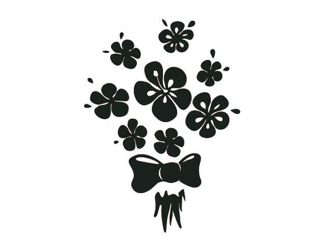 Naklejka dekoracyjna welurowa kwiaty 675026-7 Klimaty Domu