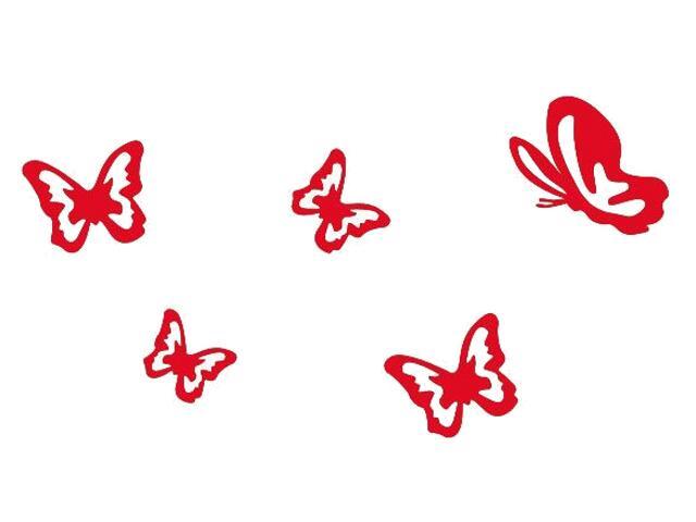 Naklejka dekoracyjna welurowa motyle 675027-6 Klimaty Domu