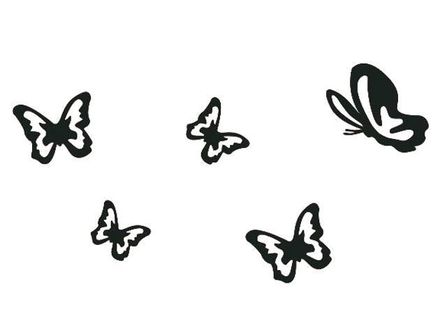 Naklejka dekoracyjna welurowa motyle 675027-7 Klimaty Domu