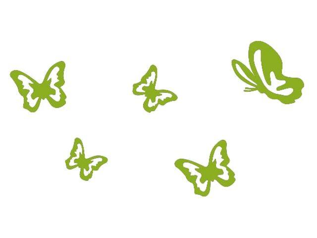 Naklejka dekoracyjna welurowa motyle 675027-5 Klimaty Domu