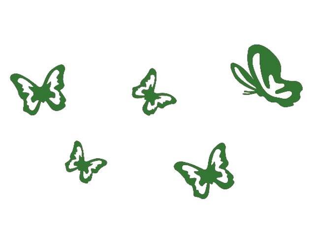 Naklejka dekoracyjna welurowa motyle 675027-9 Klimaty Domu