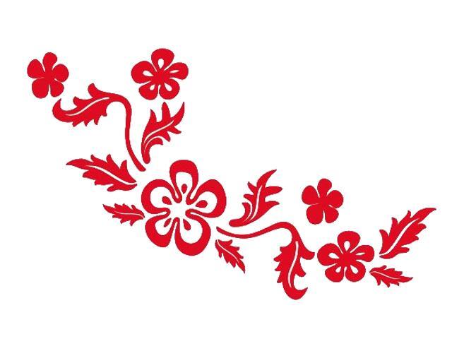 Naklejka dekoracyjna welurowa kwiaty 675029-6 Klimaty Domu