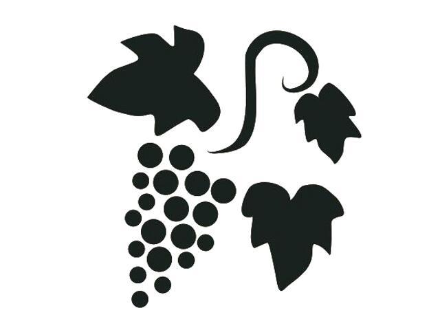 Naklejka dekoracyjna welurowa winogrona 675030-7 Klimaty Domu