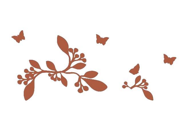 Naklejka dekoracyjna welurowa rośliny 675031-2 Klimaty Domu