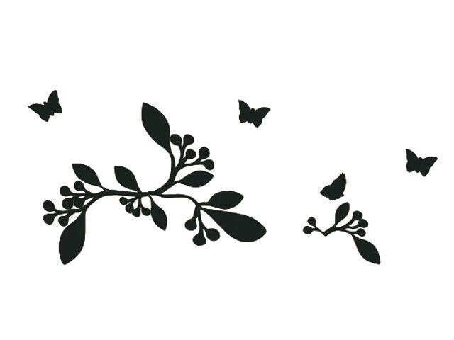 Naklejka dekoracyjna welurowa rośliny 675031-7 Klimaty Domu