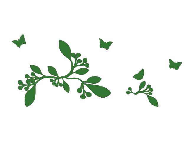 Naklejka dekoracyjna welurowa rośliny 675031-9 Klimaty Domu