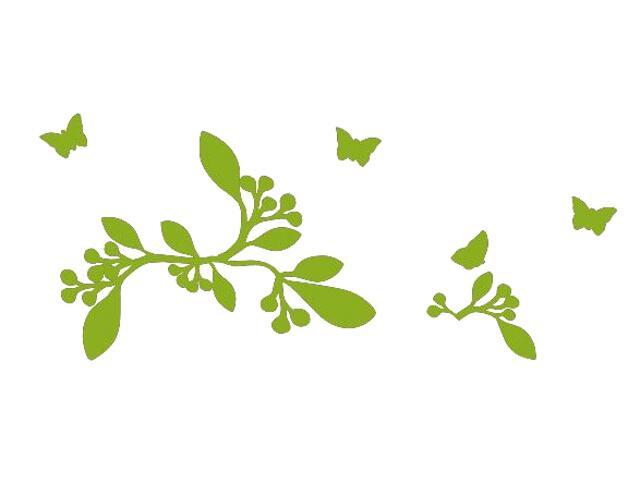 Naklejka dekoracyjna welurowa rośliny 675031-5 Klimaty Domu