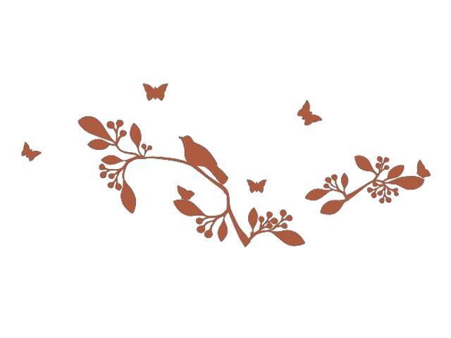 Naklejka dekoracyjna welurowa rośliny 675033-2 Klimaty Domu