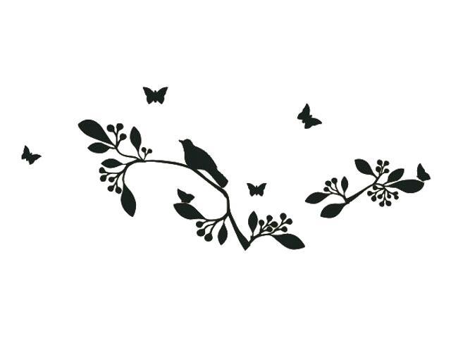 Naklejka dekoracyjna welurowa rośliny 675033-7 Klimaty Domu