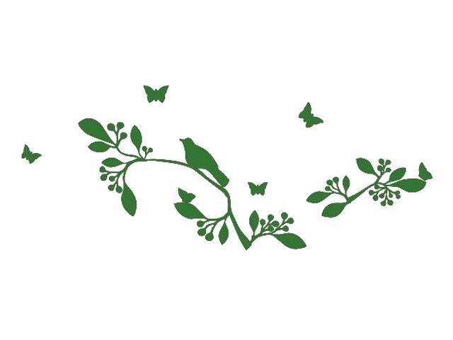Naklejka dekoracyjna welurowa rośliny 675033-9 Klimaty Domu