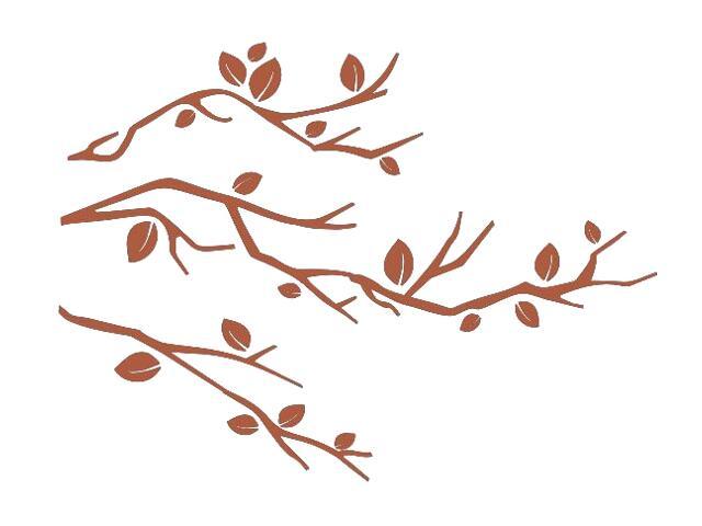 Naklejka dekoracyjna welurowa gałązki 675034-2 Klimaty Domu