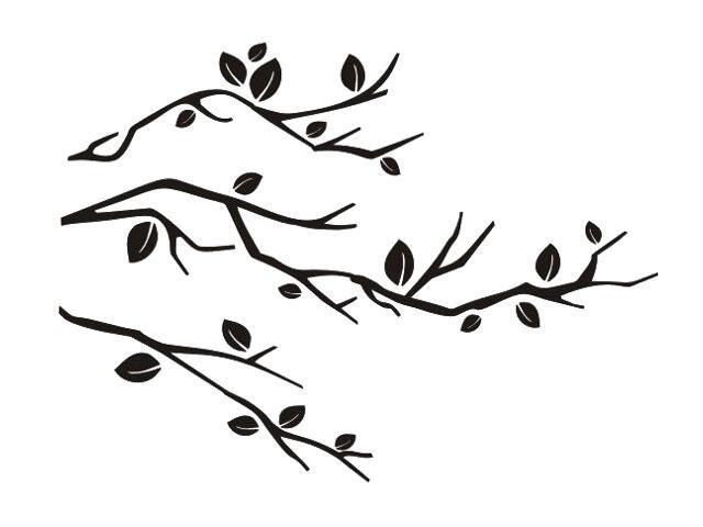 Naklejka dekoracyjna welurowa gałązki 675034-7 Klimaty Domu