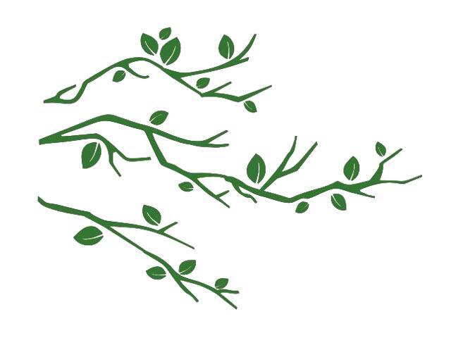 Naklejka dekoracyjna welurowa gałązki 675034-9 Klimaty Domu