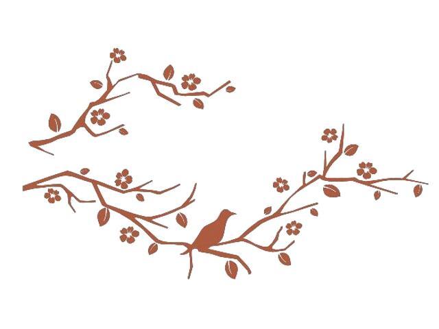 Naklejka dekoracyjna welurowa gałązki 675035-2 Klimaty Domu